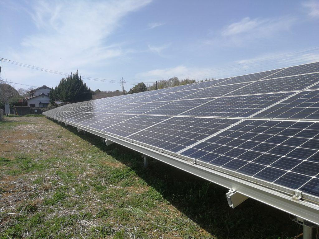 太陽光発電設備 草刈り完了